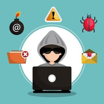 Ícone de informação de segurança de internet