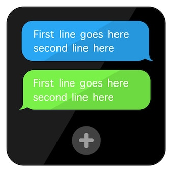 Ícone de interface do usuário de bolha de conversa. desenho do ícone do doodle