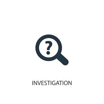 Ícone de investigação. ilustração de elemento simples. design de símbolo de conceito de investigação. pode ser usado para web e celular.