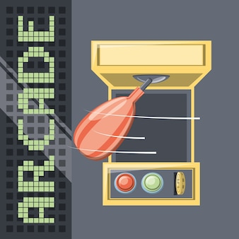 Ícone de jogo de boxe de soco arcade