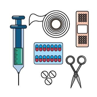 Ícone de kit de primeiros socorros de cor