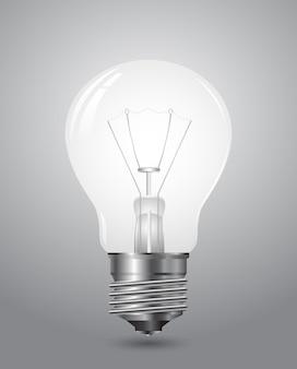 Ícone de lâmpada 3d isolado