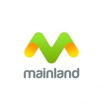 Ícone de letra m logotipo criativo.
