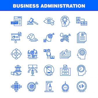 Ícone de linha de administração de negócios