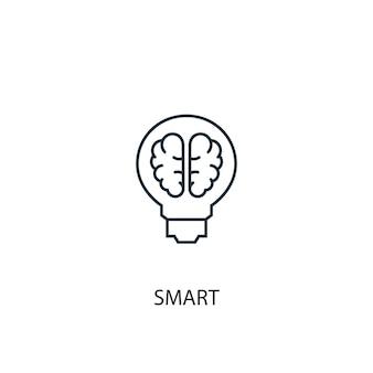 Ícone de linha de conceito inteligente. ilustração de elemento simples. design de símbolo de contorno de conceito inteligente. pode ser usado para ui / ux da web e móvel