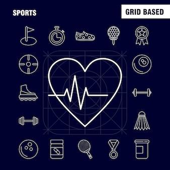 Ícone de linha de esportes para web