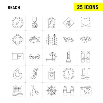Ícone de linha de praia