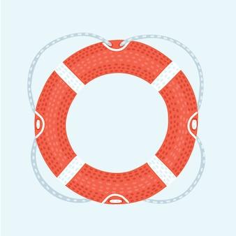 Ícone de linha de vida. ilustração dos desenhos animados do ícone do salva-vidas para a web