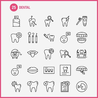 Ícone de linha dentária
