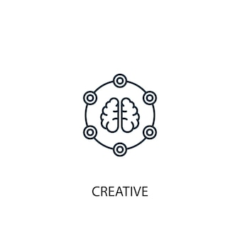 Ícone de linha do conceito criativo. ilustração de elemento simples. projeto do símbolo do esboço do conceito criativo. pode ser usado para ui / ux da web e móvel