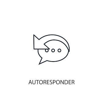 Ícone de linha do conceito de autoresponder. ilustração de elemento simples. projeto do símbolo do esboço do conceito do autoresponder. pode ser usado para ui / ux da web e móvel