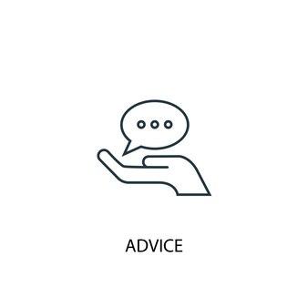 Ícone de linha do conceito de conselhos. ilustração de elemento simples. conselho conceito esboço símbolo design. pode ser usado para ui / ux da web e móvel