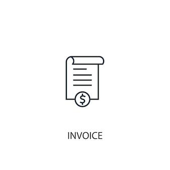 Ícone de linha do conceito de fatura. ilustração de elemento simples. projeto do símbolo do esboço do conceito da fatura. pode ser usado para ui / ux da web e móvel