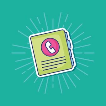Ícone de livro de endereços