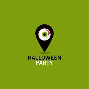 Ícone de localização de festa de halloween