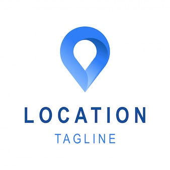 Ícone de localização. modelo de design de logotipo de negócios com espaço de tagline. símbolo criativo para empresa de viagens.