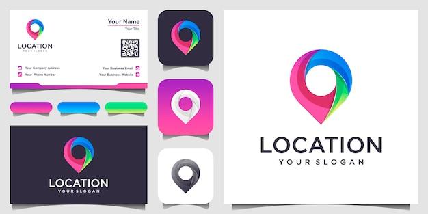 Ícone de localização. pin assinar isolado com design cartão de visita.