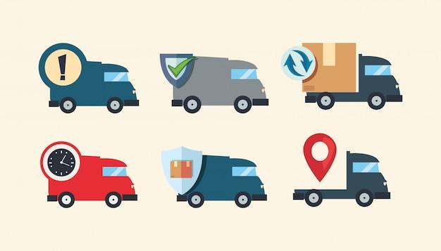 Ícone de logística de entrega rápida