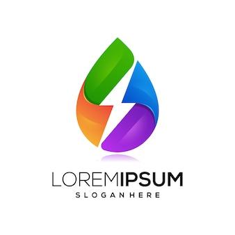 Ícone de logotipo de energia de óleo