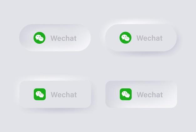 Ícone de logotipo de linha neumórfica para logotipos de ícones de mídia social populares em botões de neumorfismo ui ux