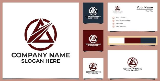 Ícone de logotipo de seta para cima de negócios abstratos