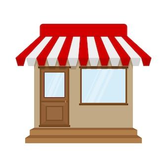 Ícone de loja ou loja em design plano