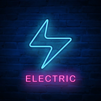 Ícone de luz neon iluminada iluminação elétrica
