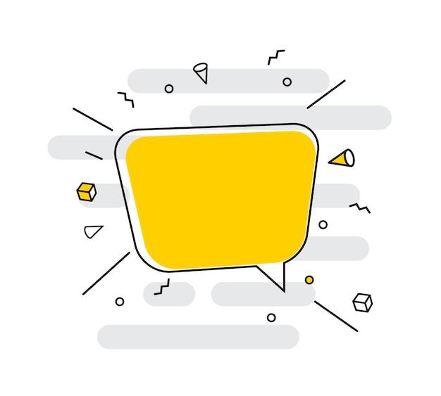 Ícone de mão desenhada discurso bolhas.