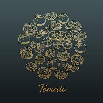 Ícone de mão desenhada tomate.