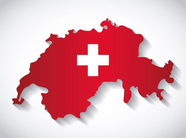 Ícone de mapa do país suíço