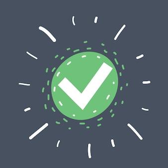 Ícone de marca de seleção verde
