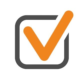 Ícone de marca de seleção. verifique o símbolo correto do tiquetaque da marca. ok, sinal aprovado. ilustração vetorial isolada