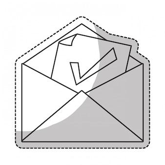 Ícone de marca de seleção