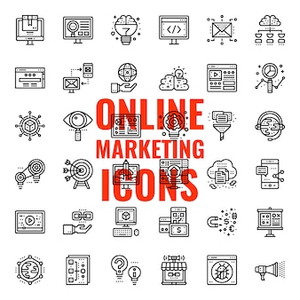 Ícone de marketing on-line