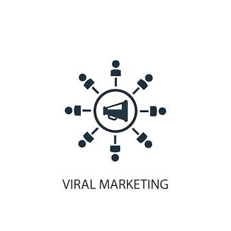 Ícone de marketing viral. ilustração de elemento simples. design de símbolo de conceito de marketing viral. pode ser usado para web e celular.