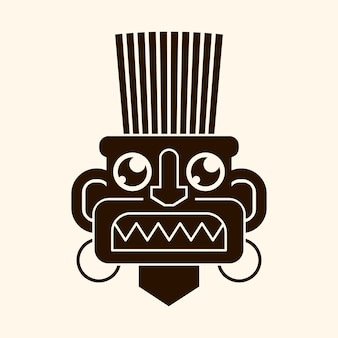 Ícone de máscara de ídolo. desenho de ícone de vetor de máscara de ídolo para web design