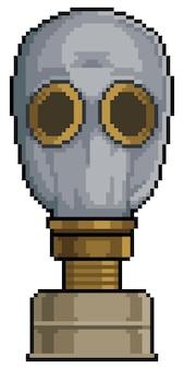Ícone de máscara de radiação e gás chernobyl pixel art para bit do jogo em fundo branco