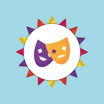 Ícone de máscaras de teatro