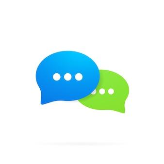 Ícone de mensagem em design plano. comunicação. sinal de conversa. bate-papo. vetor em fundo branco isolado. eps 10.