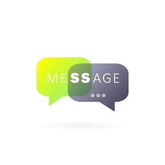 Ícone de mensagem em design plano. comunicar. sinal de conversa. bate-papo. vetor em fundo branco isolado. eps 10.
