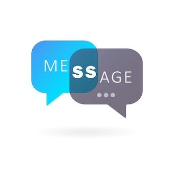 Ícone de mensagem em design plano. sinal de conversa. bate-papo. vetor em fundo branco isolado. eps 10.