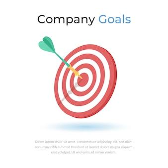 Ícone de metas de destino da empresa
