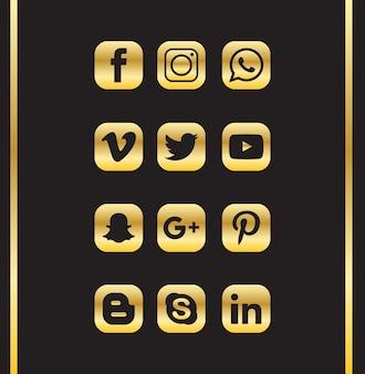 Ícone de mídia social de luxo