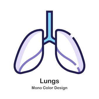 Ícone de mono cor de pulmões