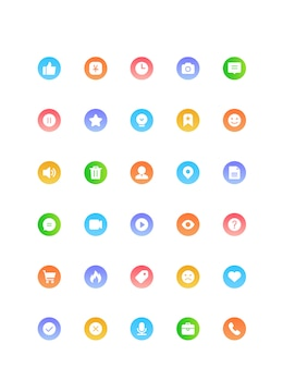 Ícone de móvel de internet de gradiente de cor