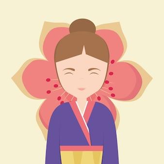Ícone de mulher asiática