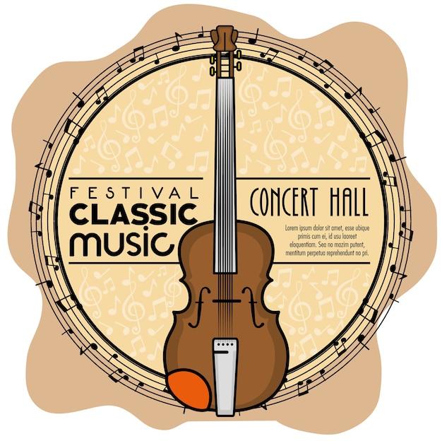 Ícone de música clássica do festival de cartaz