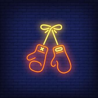 Ícone de néon do boxe