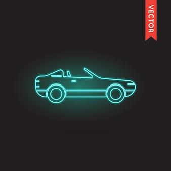 Ícone de néon do carro, vetor do ícone do carro, objeto do ícone do carro, imagem do ícone do carro, imagem do ícone do carro, gráfico do ícone do carro, arte do ícone do carro, desenho do ícone do carro, ícone do carro eps.
