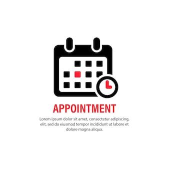 Ícone de nomeação. calendário com data específica. conceito de negócio. lembrete, planejador, organizador. vetor em fundo branco isolado. eps 10.